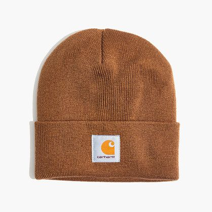 Carhartt has been making tough-as-nails workwear since the railroad days (seriously, they launched their signature bib overalls in 1889). Their Work in Progress label rethinks old-school pieces with modern cuts and fabrics—like this short beanie that fits close to the head. <ul><li>Acrylic.</li><li>Hand wash.</li><li>Import.</li><li>Madewell.com only. </li></ul>