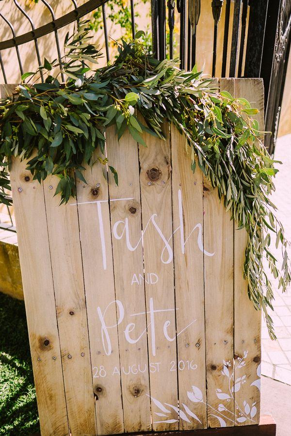 Personalised Pale Timber Entry Wedding Signage - Lovebird Weddings, Noosa Australia