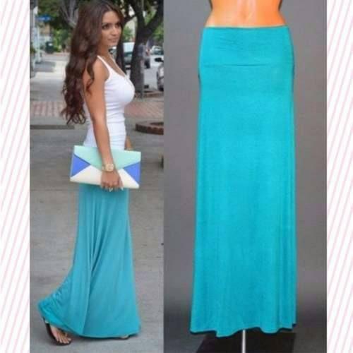 Maxi Faldas A La Moda Unicolor Y Estampadas!! - Bs. 3.900,00