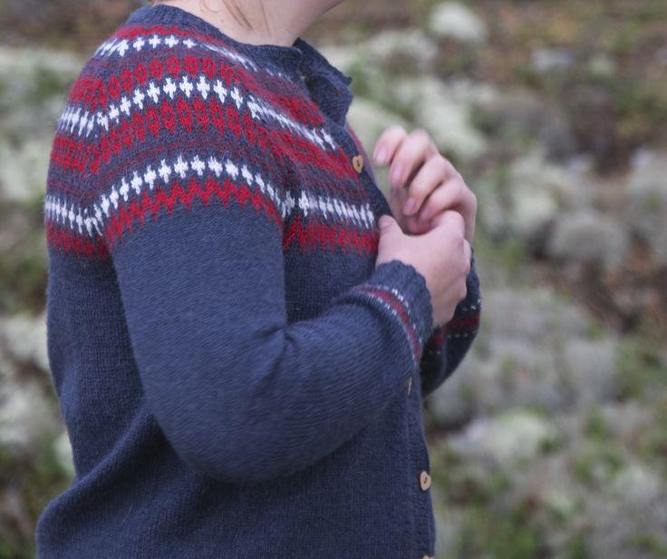 Elgseter kofte i Sandnes Alpakka // jacket pattern from Sandnes