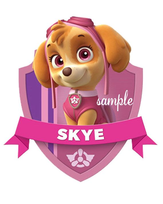 Paw Patrol Skye Iron On Transfer digital downlong by BellaBabies4, $5.00