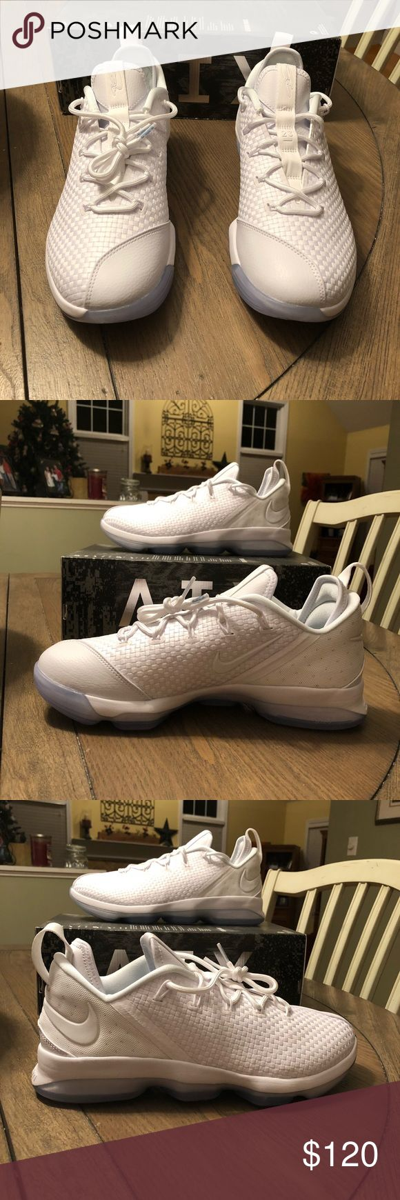 Lebron XIV Low Lebron XIV Low White/White-Ice 878636-101 Size 10 Brand New in Original Box (no top) Retails for $150.00 Nike Shoes Sneakers