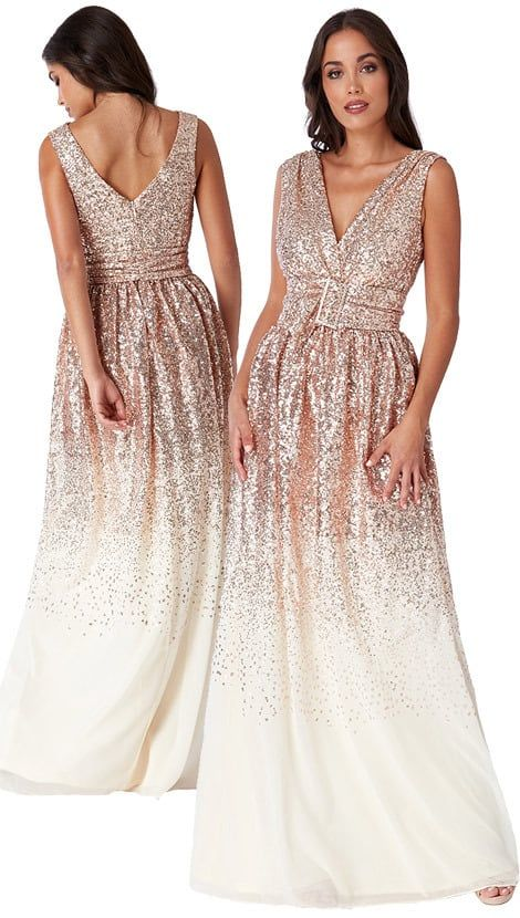 6c5a4712e5750c Gouden glitter galajurk 4140 - City Goddess galajurken en cocktailjurken.  Bezoeken. februari 2019