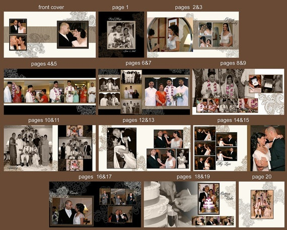 12X12 Photoshop PSD Book Album Template  by rememberwhendesign, $25.00