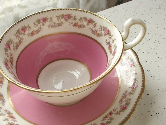 Antique Pink Tea Cup Set Vintage Aynsley English Roses Bone China Pots Collections Pinterest Cups And