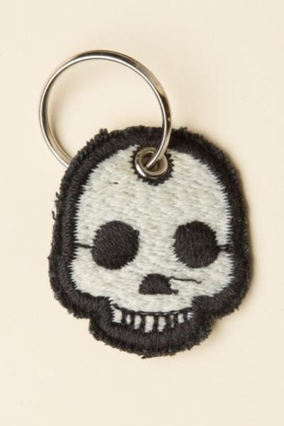 Brandy ♥ Melville |  Skull Patch Keychain #accessories #covetme #skull #skullkeychain #keychain #brandymelville