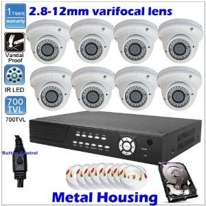 Complete High-end 8 Channel D1 Network iPhone Access DVR (1000GB DH) Surveillance CCTV Security Camera System Package With 8 Sony CCD Effio 700TVL 36 infrared LEDs Nigh Vision Vandalproof Dome Camera by Onsalecctv. $899.00. Complete High-end 8 Channel D1 Network iPhone Access DVR (1000GB DH) Surveillance CCTV Security Camera System Package With 8 Sony CCD Effio 700TVL 36 infrared LEDs Nigh Vision Vandalproof Dome Camera  Package Includes: SV812N DVR with 1000G HD...