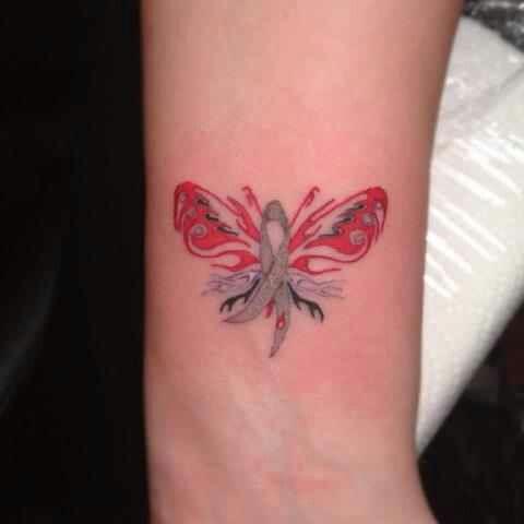 Diabetes ribbon tattoo