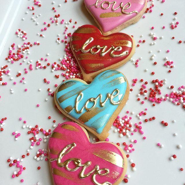 simple heart cookies - Decorated Valentine Cookies