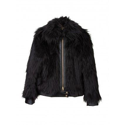 FAUX-FUR BOMBER JACKET #fashion #FW2013 #trend #lautrechose