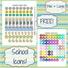 Multicolor School Icons and School deco pages are now live on my blog! Download for free by clicking the link in my bio or going to plannerproblem.wordpress.com! #plannerstickers #freestickers #plannernerd #plannergirl #plannerproblem #planner #planning #plannercommunity #erincondren #happyplanner #bighappyplanner #plannernerd #plannerjunkie #plannerlife