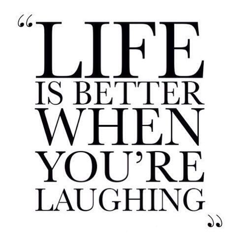Even if you do laugh louder then everyone in the theatre... :-) That's me...