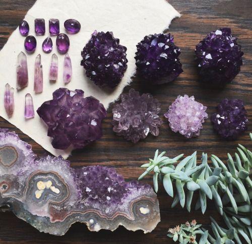 Pinterest: Rachs_Space   Assorted Crystals   Amethyst #crystals #amethyst
