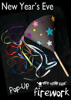 POP-UP FIREWORK CRAFT -A great New Year's Eve craft for kids. children can enjoy seeing fireworks again and again with this interactive kids firework craft.