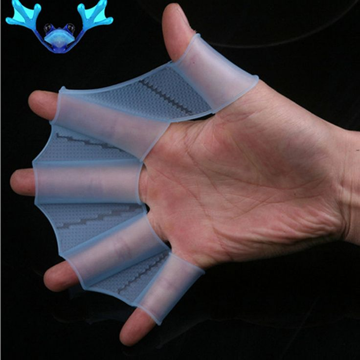 Details pair of Swim glove about Swim Gear Fins Hand Webbed Flippers Silicone Training Paddle Dive Glove free shipping