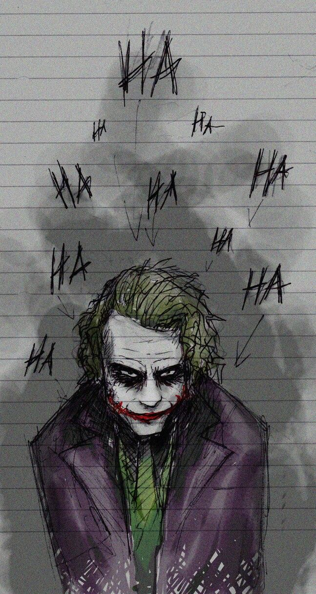 "Art inspired by The Joker played by Heath Ledger in ""A Dark Knight"" (2008)  
