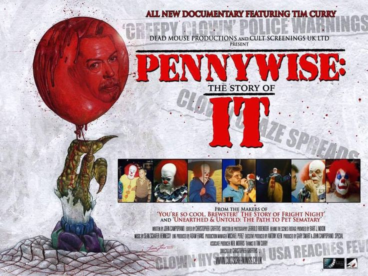 "Tim Curry confirmed for upcoming doc: ""Pennywise: The Story Of It""."