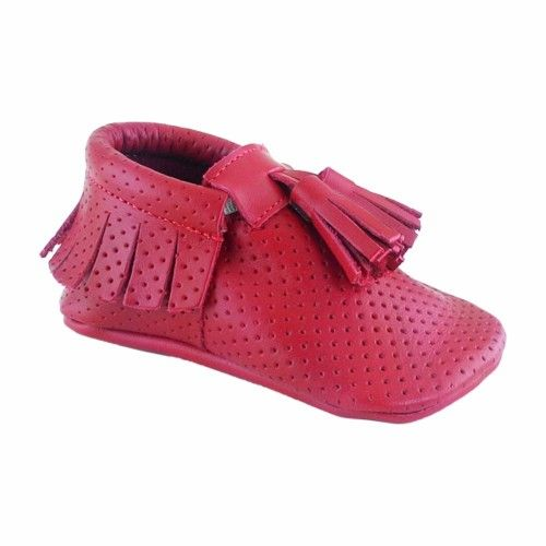 Corcik Makosen Bebek Ayakkabı Kırmızı - Sanatkardan
