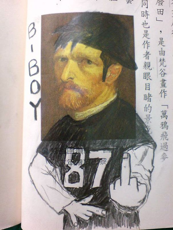 Best Textbook Vandalism Images On Pinterest Desks Doodles - 20 times students vandalised textbooks in the funniest way