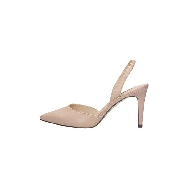 Guess Flbyr1 Lea05 Slingback Court Shoes ($135) ❤ liked on Polyvore featuring shoes, pumps, beige, court shoes, women, beige slingback shoes, sling back shoes, slingback shoes, beige shoes and slingback pumps