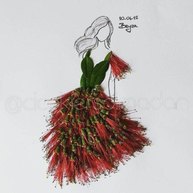 Sanatlı Bi Blog Çiçeklerle Minyatür Kadın Elbiseleri Oluşturan Sanatçı: 'Beyza Gonca Güner' 13