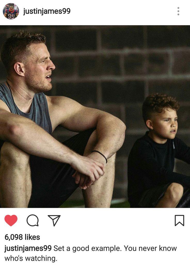 JJ Watt's Instagram - 4.25.17 - role model advice - #DreamBigWorkHard #HuntGreatness #JustAKidFromPewaukee #Justincredible
