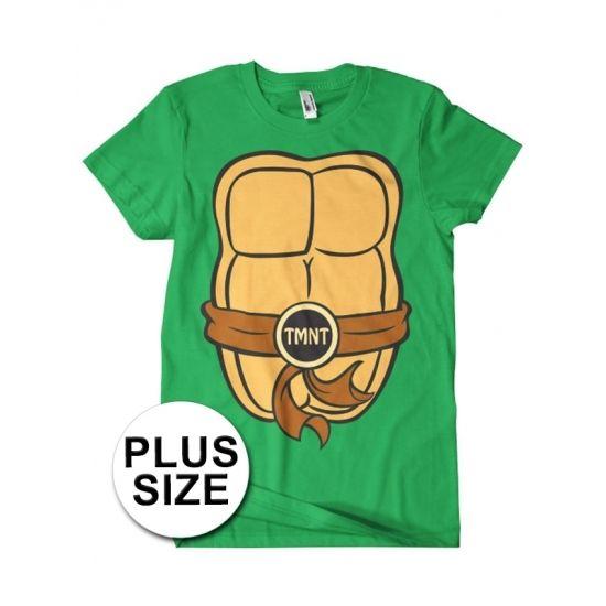 Grote maat Fred Ninja Turtle shirt kostuum voor volwassenen  Teenage Mutant Ninja Turtles t-shirt met korte mouwen in grote maten. Het shirt heeft print aan de voor- en achterzijde waardoor het lijkt alsof je een Ninja Turtle bent. Materiaal: 100% gekamd katoen.  EUR 19.95  Meer informatie