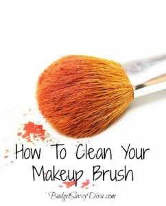 All you need is a dirty makeup brush, a tablespoon of vinegar, and water. Mix together HOT water and a tablespoon of vinegar and let your brush soak for 15-20 minutes. Next do a hot/cold rinse, first rinse in hot water, then in cold. Pat your brush, dry and enjoy a clean make up brush! This way of cleaning your brush disinfects it, dissolves built up makeup, and is very inexpensive.