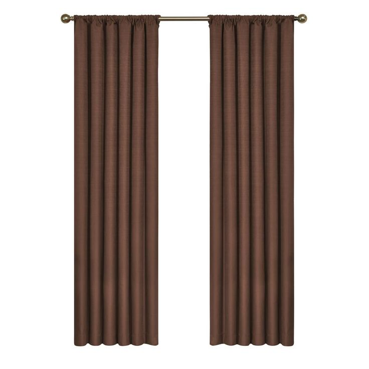 Eclipse Kendall Blackout Window Curtain Panel In Chocolate