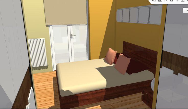 Vista del dormitorio desde la zona de vestidor
