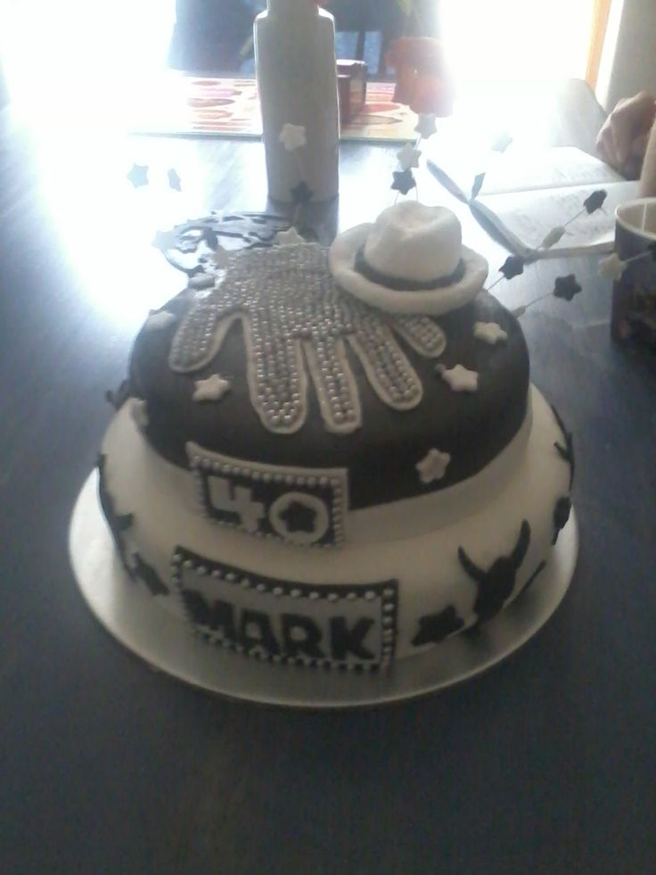Michael Jackson cake done with my sister Katie