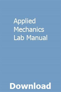 Applied Mechanics Lab Manual | tiocomsyndve | Chevrolet aveo
