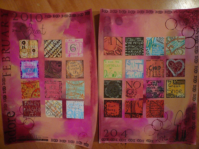 Art Journal Calendar Pages : Best images about journal calendar pages on pinterest