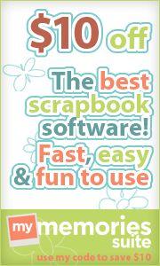 My Memories Suite Très bon logiciel de Scrapbooking 10$ de réduction avec ce code  Code: STMMMS19454