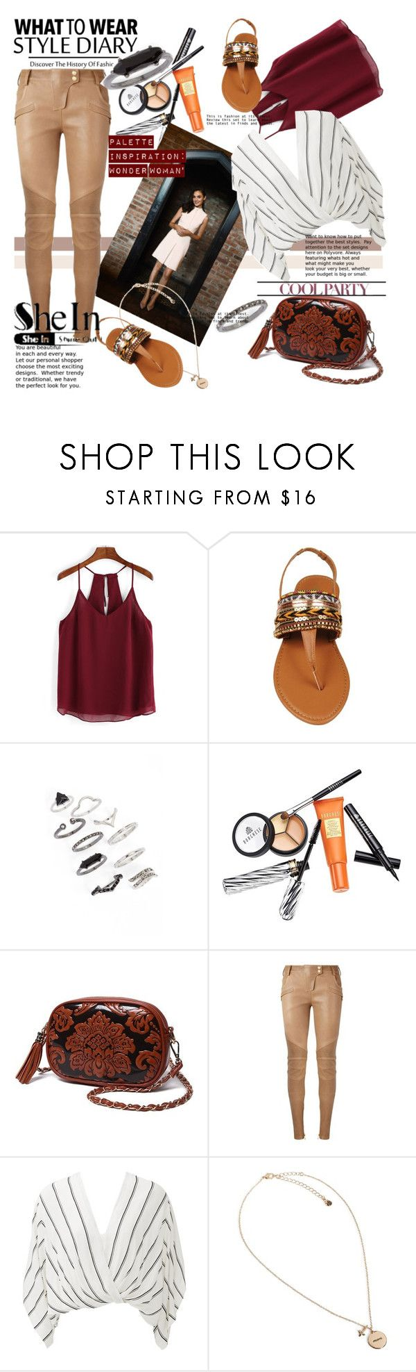 """""""Gal Gardot"""" by cranetattoo ❤ liked on Polyvore featuring Topshop, Borghese, Balmain, Free People and Vera Bradley"""