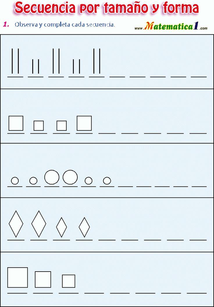 Teken de reeksen af, free printable
