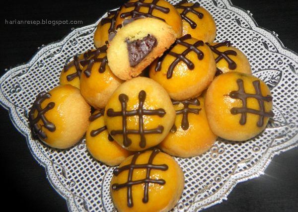 Nastar Keju Prochiz Topping Cokelat Leleh Makanan Resep Keju