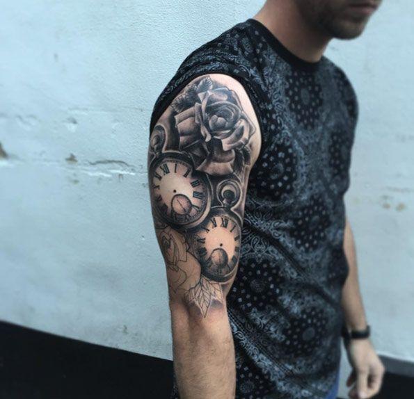 Pocket Watch Tattoo by Kev Richardson Jr