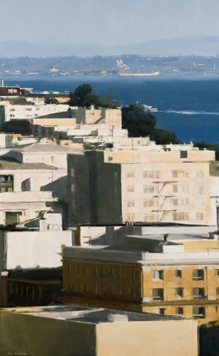 Ben Aronson  Summer Morning  2010, oil on panel  36 x 22 inches