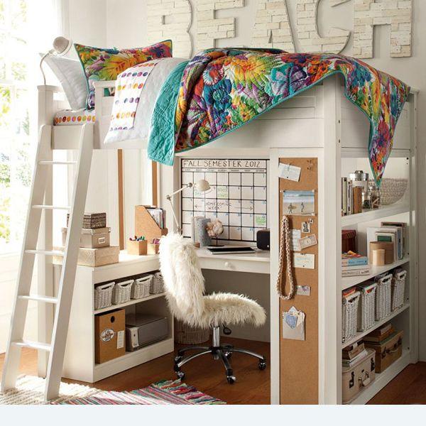 Girl Loft Beds, Girls Bedroom And Cool Kids Beds