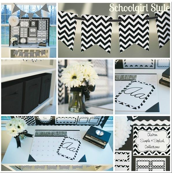 Black And White Chevron Clroom Decor Themes By School Ideas