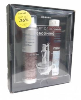 Korres GIFT SET Absinthe Shaving Foam 150ml + Marigold & Ginseng After Shave Balm 200ml SPECIAL PRICE  The art of Korres grooming set with absinthe shaving foam, ideal even for the most sensitive skins and marigold and ginseng after shave balm.  Shop here http://bit.ly/1nX3YGE