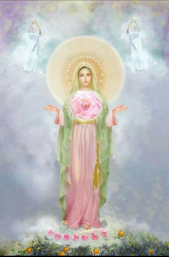 Mystic rose, come deliver Your message of peace for this nation! We await You Mother, Queen of Peace, Divine Conception of the Trinity. Amen