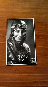 Amy Johnson Aviator.  vintage post card