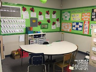 Special Education Classroom Daily Schedule- Work Center RotationsSpecial Education Classroom Daily Schedule- Morning Fitness and Morning Meeting