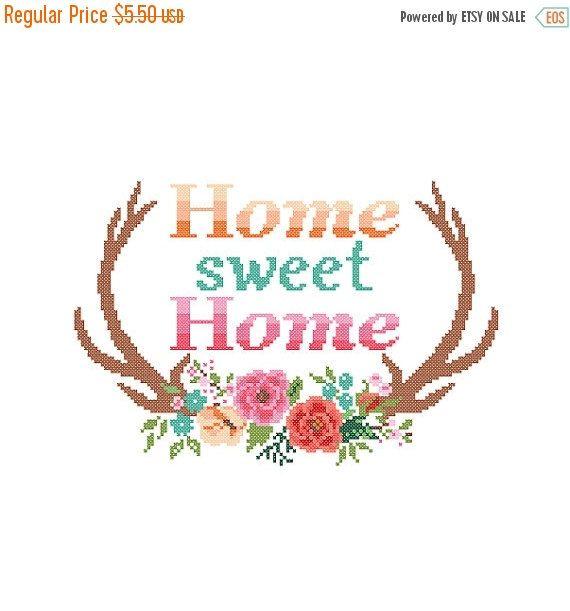Spring SALE Modern Cross Stitch Pattern Home by ZindagiDesigns