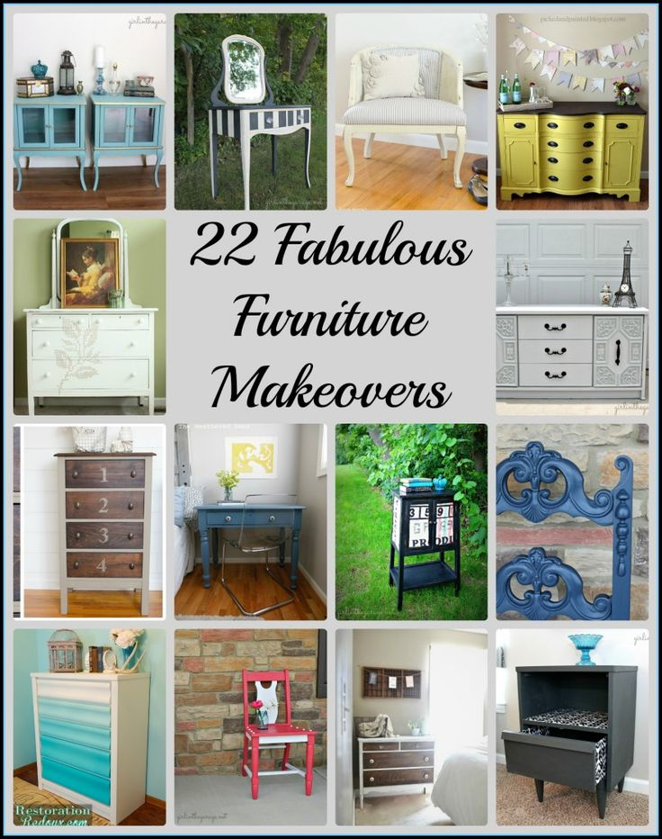 22 Fabulous Furniture Makeovers - From some very talented bloggers!
