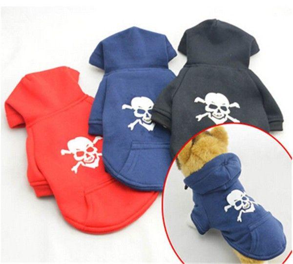 Soft Cotton Dog Pet Skull Hoodie //Price: $19.69 & FREE Shipping //     #skull #skullinspiration #skullobsession #skulls