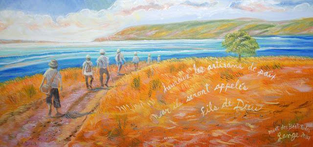 RÉFLEXION SUR LE MONT DES BÉATITUDES, ISRAEL... #Art #Artiste