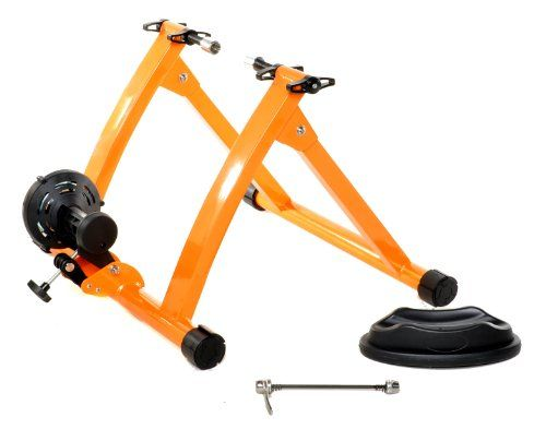 Indoor Bike Trainer Exercise Stand, Orange - Train throughout the winter regardless of the weather with this magnetic resistance trainer. Works with 26, 27 or 700c bicycles.